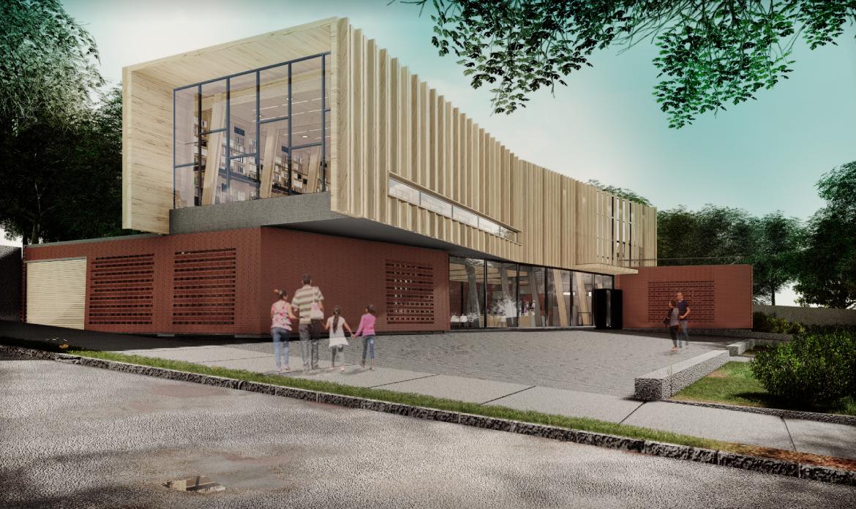 Diseño Reposición Biblioteca Pública de la Comuna de Nacimiento