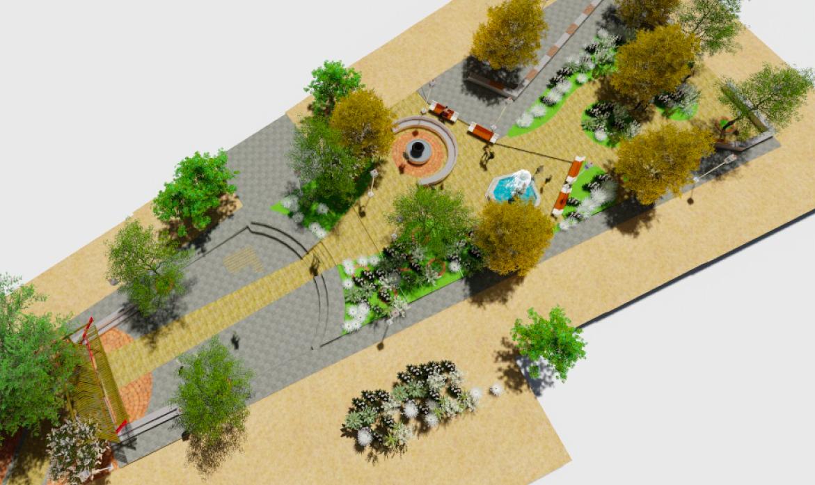 Diseño Plaza La Olla, Plaza de Juegos y Plaza del Monolito, Caimanes, Comuna de los Vilos